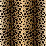 Modello senza cuciture di vettore con struttura della pelliccia del leopardo Ripetendo il fondo della pelliccia del leopardo per  royalty illustrazione gratis
