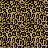 Modello senza cuciture di vettore con struttura della pelliccia del leopardo Ripetizione del leop Immagine Stock Libera da Diritti