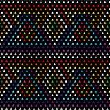Modello senza cuciture di vettore del mosaico del diamante dei cristalli di rocca Fotografie Stock Libere da Diritti