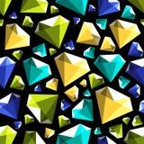 Modello senza cuciture di vettore del poli diamante basso della gemma illustrazione vettoriale