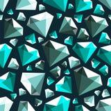 Modello senza cuciture di vettore del poli diamante basso della gemma illustrazione di stock