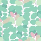 Modello senza cuciture di vettore dell'estratto delle foglie esotiche nei colori vivi royalty illustrazione gratis