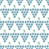 Modello senza cuciture di vettore dell'uva isolato Bacche blu del succo su bianco Priorità bassa dell'alimento Illustrazione dell royalty illustrazione gratis