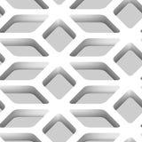modello senza cuciture di vettore della grata 3D Immagini Stock