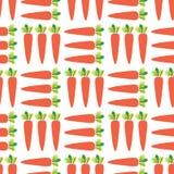 Modello senza cuciture di vettore delle carote Fondo di verdure del campo illustrazione di stock