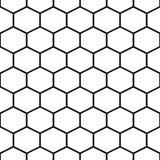 Modello senza cuciture di vettore delle cellule del pettine del miele illustrazione di stock