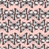 Modello senza cuciture di vettore delle farfalle royalty illustrazione gratis