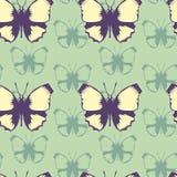 Modello senza cuciture di vettore delle farfalle illustrazione di stock