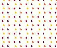 Modello senza cuciture di vettore delle gocce di acqua della pioggia 3 colore giallo, viola illustrazione vettoriale