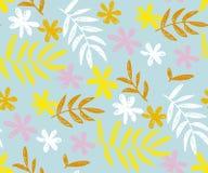 Modello senza cuciture di vettore di colore contemporaneo floreale di estate royalty illustrazione gratis