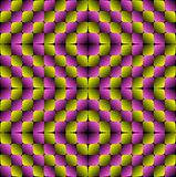 Modello senza cuciture di vettore di illusione ottica dei rombi del rigonfiamento Fotografia Stock
