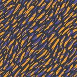 Modello senza cuciture di vettore disegnato a mano della pelle animale dell'estratto Frammenti organici Struttura diagonale capri illustrazione di stock