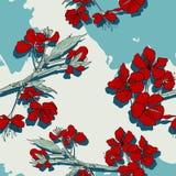 Modello senza cuciture di vettore floreale illustrazione di stock