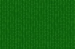 Modello senza cuciture di vettore, fondo verde della corrente di codice binario, illustrazione di tecnologia illustrazione di stock
