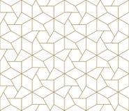Modello senza cuciture di vettore geometrico semplice moderno con la linea struttura dell'oro su fondo bianco Carta da parati ast