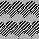 Modello senza cuciture di vettore geometrico strutturato a strisce illustrazione di stock