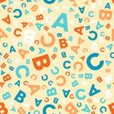 Modello senza cuciture di vettore - lettere differenti ABC illustrazione di stock