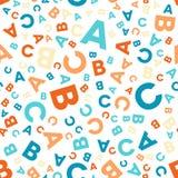 Modello senza cuciture di vettore - lettere differenti ABC Immagini Stock Libere da Diritti