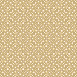 Modello senza cuciture di vettore nello stile arabo Struttura floreale geometrica dorata illustrazione vettoriale