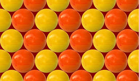 Modello senza cuciture di VETTORE: palle gialle ed arancio realistiche Fotografia Stock