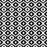 Modello senza cuciture di vettore tribale in bianco e nero Priorità bassa astratta disegnata a mano Progettazione classica del te Immagini Stock