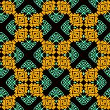 Modello senza cuciture di vettore tribale variopinto ornamentale Lo stile etnico ha modellato il fondo geometrico Contesto delle  royalty illustrazione gratis