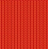 Modello senza cuciture di vettore tricottato rosso Immagine Stock