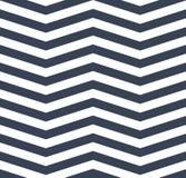 Modello senza cuciture di zigzag bianco blu del gallone ENV 10 royalty illustrazione gratis
