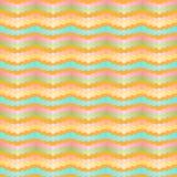 Modello senza cuciture di zigzag stilizzato del gallone Bande variopinte geometriche di pendenza royalty illustrazione gratis