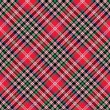 Modello senza cuciture diagonale del controllo di struttura del tessuto del tartan di Kemp Fotografia Stock