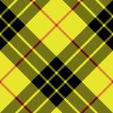 Modello senza cuciture diagonale del plaid di struttura del tessuto del kilt del tartan di Macleod Fotografia Stock