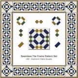 Modello senza cuciture Diamond Check Square Geometry della struttura delle mattonelle royalty illustrazione gratis