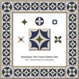 Modello senza cuciture Diamond Geometry rotondo della struttura delle mattonelle royalty illustrazione gratis