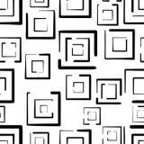 Modello senza cuciture disegnato a mano con i quadrati isolati su fondo bianco Fotografie Stock Libere da Diritti