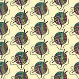 Modello senza cuciture disegnato a mano dell'arcobaleno colorato del filato di lana per struttura per lo spostamento del pacchett royalty illustrazione gratis