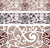 Modello senza cuciture disegnato maori Fotografia Stock