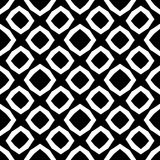 Modello senza cuciture e geometrico in bianco e nero fotografie stock