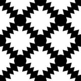 Modello senza cuciture e geometrico in bianco e nero immagini stock libere da diritti