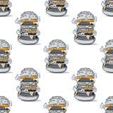 Modello senza cuciture enorme dell'hamburger royalty illustrazione gratis