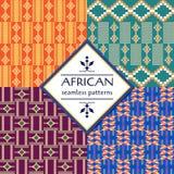 Modello senza cuciture etnico africano Progettazione geometrica illustrazione vettoriale