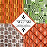 Modello senza cuciture etnico africano Progettazione geometrica illustrazione di stock