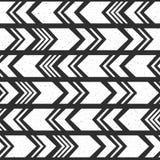 Modello senza cuciture etnico azteco, fondo in bianco e nero tribale illustrazione vettoriale