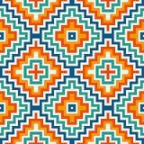 Modello senza cuciture etnico con le linee del gallone Fondo dell'ornamentale dei nativi americani Motivo tribale Carta digitale  illustrazione vettoriale