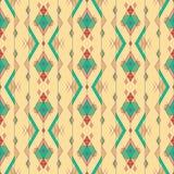 Modello senza cuciture etnico d'annata tribale Azteco, messicano, navajo, motivo africano illustrazione vettoriale