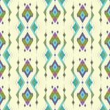 Modello senza cuciture etnico d'annata tribale Azteco, messicano, navajo, motivo africano illustrazione di stock