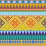 Modello senza cuciture etnico peruviano azteco, fondo rosa ed arancio tribale Fondo luminoso per le cartoline d'auguri illustrazione di stock
