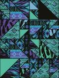 Modello senza cuciture etnico tribale con gli elementi geometrici Fotografia Stock Libera da Diritti