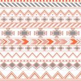 Modello senza cuciture etnico variopinto azteco, fondo arancio e blu tribale di colore royalty illustrazione gratis