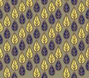 Modello senza cuciture floreale astratto con le foglie ornamentali Wh della foglia Fotografia Stock Libera da Diritti