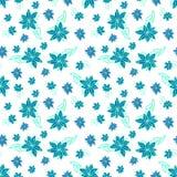Modello senza cuciture floreale blu e bianco dell'annata Fotografie Stock Libere da Diritti